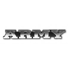 ARMY Triple Chrome Plated Adhesive ABS Emblem