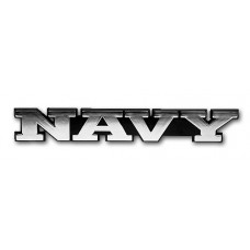 NAVY Triple Chrome Plated Adhesive ABS Emblem
