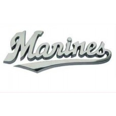 Marines Triple Chrome Plated Adhesive ABS Emblem Script