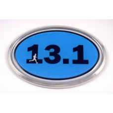 13.1 Blue Oval 3D Chrome Car Emblem