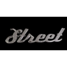 Solid Metal Chrome Smart Script  Emblem - Street