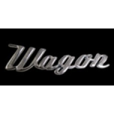 Solid Metal Chrome Smart Script Emblem - Wagon