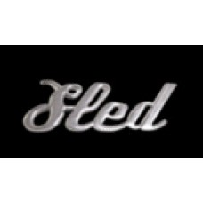 Solid Metal Chrome Smart Script Emblem - Sled