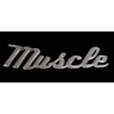 Solid Metal Chrome Smart Script Emblem - Muscle