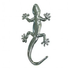 Gecko Solid Metal Chrome Emblem