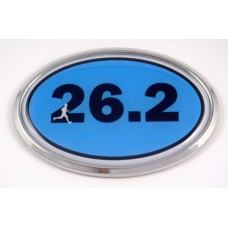 26.2 Blue Oval 3D Chrome Car Emblem