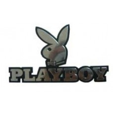 PlayBoy Chrome Car Emblem TEXT