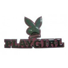 PlayGirl Car Emblem Pink TEXT
