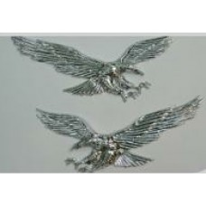 Eagle Chrome Emblem 2 PAIR