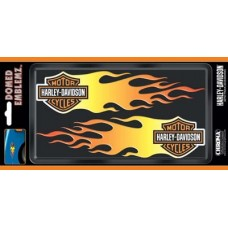 Domed Harley Davidson Orange Flame Decal Kit