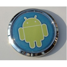 Android Chrome Emblem Decal Car Bumper Domed Sticker