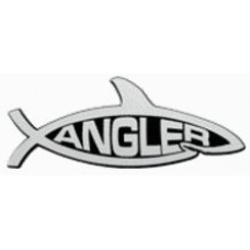Angler Shark Chrome Car Emblem