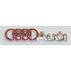 Audi Chrome with Red Emblems - PAIR