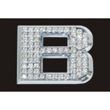Chrome Letter Style Crystal - B