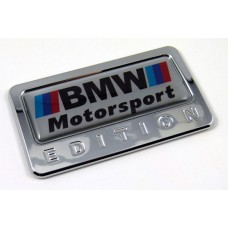 BMW motorsport special edition adhesive chrome emblem