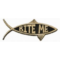 Bite Me Chrome Car Fish Emblem