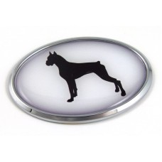 Boxer 3D Adhesive Oval Chrome Pet Emblem
