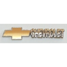 CHEVROLET Chrome with Gold Emblems - PAIR