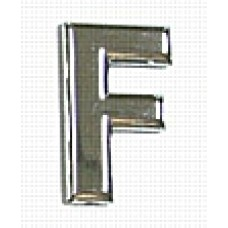 Chrome Letter Style 1 - F