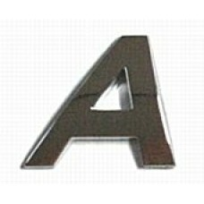 Chrome Letter Style 2 - A