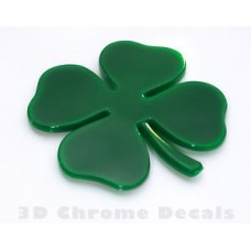 Clover 4 Leaf Irish Plastic Car Auto Decal Sticker