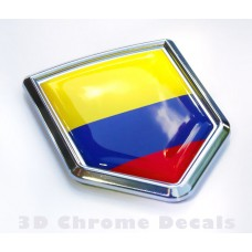 Colombia Flag Colombian Emblem Chrome Crest Decal Sticker