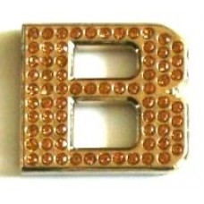 Crystal Chrome Letters GOLD - B