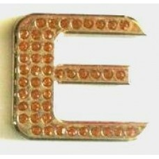 Crystal Chrome Letters GOLD - E