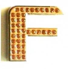 Crystal Chrome Letters GOLD - F