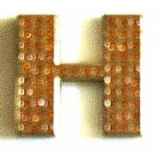 Crystal Chrome Letters GOLD - H