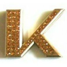 Crystal Chrome Letters GOLD - K