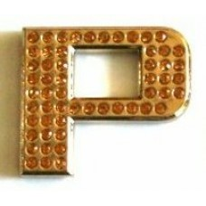 Crystal Chrome Letters GOLD - P