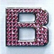 Crystal Chrome Letters PINK - B