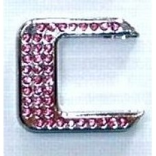 Crystal Chrome Letters PINK - C