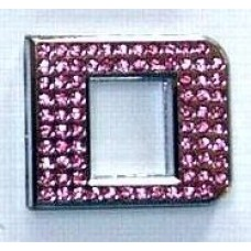 Crystal Chrome Letters PINK - D