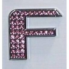 Crystal Chrome Letters PINK - F