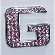 Crystal Chrome Letters PINK - G