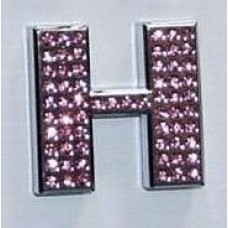 Crystal Chrome Letters PINK - H