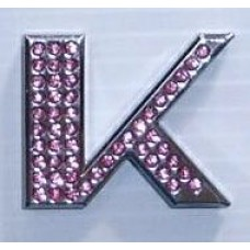 Crystal Chrome Letters PINK - K