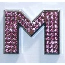 Crystal Chrome Letters PINK - M