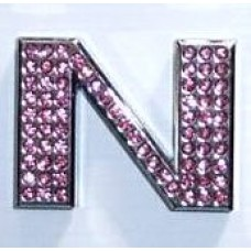Crystal Chrome Letters PINK - O