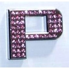 Crystal Chrome Letters PINK - P