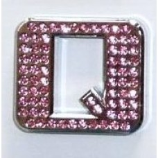 Crystal Chrome Letters PINK - Q