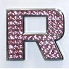 Crystal Chrome Letters PINK - R