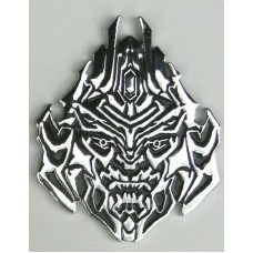 Transformers METAL DECEPTICON Chrome Auto Emblem