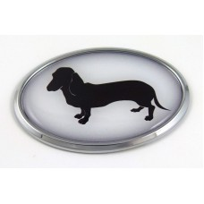 Deschaund 3D Adhesive Oval Chrome Pet Emblem