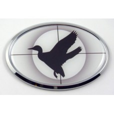 Duck Hunting 3D Oval Emblem Domed Sticker