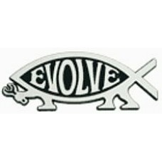 Evolve Fish Chrome Car Emblem