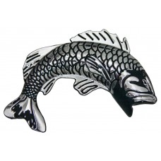 Fish Chrome Metal Jumping Fish Auto Emblem