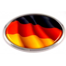 German Wave Flag Oval 3D Chrome Emblem
